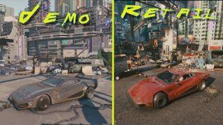 Cyberpunk 2077 2018 Demo vs Retail RTX 3080 4K Graphics Comparison