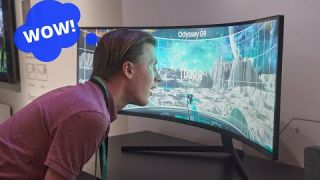 Samsung Odyssey G9 QLED Curve Gaming Monitor First Look