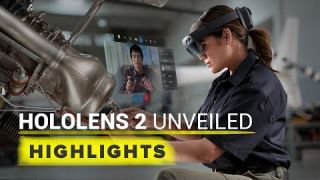 Microsoft shows off HoloLens 2 mixed reality headset at MWC